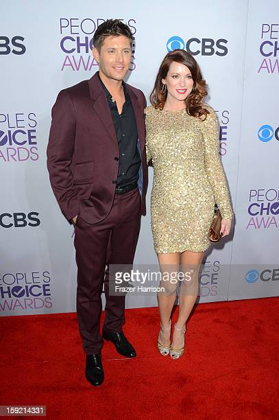 94ed65f869 Actor Jensen Ackles and Daneel Harris attend the 39th Annual People s  Choice Awards at Nokia Theatre