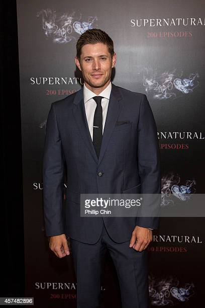 Actor Jensen Ackles attends the Supernatural 200th episode celebration at the Fairmont Pacific Rim Hotel on October 18 2014 in Vancouver Canada