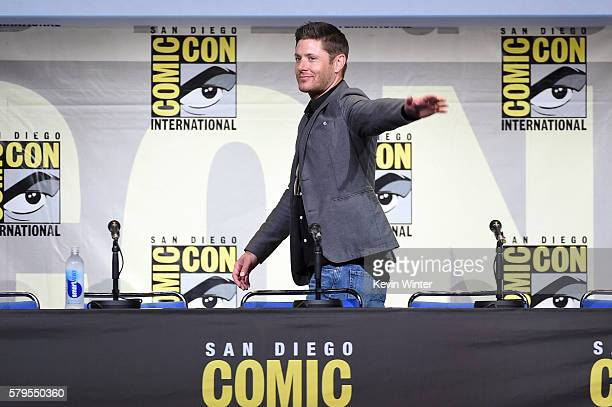 Actor Jensen Ackles attends the Supernatural Special Video Presentation And QA during ComicCon International 2016 at San Diego Convention Center on...