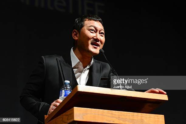 Actor Jeong ManSik attends the 'AsuraThe City Of Madness' premiere during the 2016 Toronto International Film Festival at The Elgin on September 13...