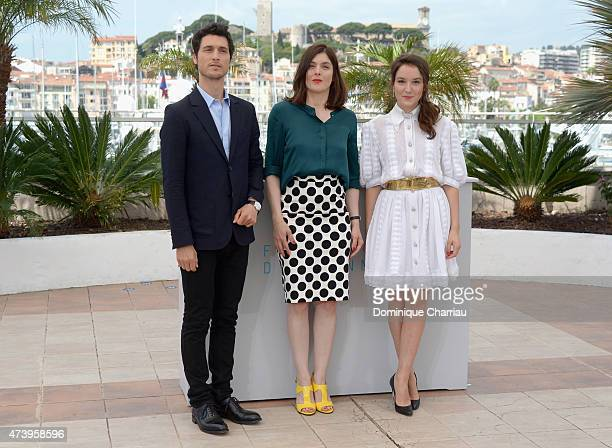 Actor Jeremie Elkaim director Valerie Donzelli and actress Anais Demoustier attend a photocall for 'Marguerite And Julien' during the 68th annual...
