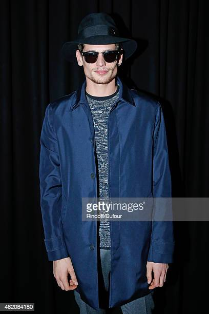 Actor Jeremie Laheurte attends the Dior Homme Menswear Fall/Winter 20152016 Show as part of Paris Fashion Week on January 24 2015 in Paris France