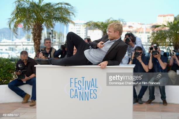 Actor Jeremie Renier attends the 'Saint Laurent' photocall at the 67th Annual Cannes Film Festival on May 17 2014 in Cannes France