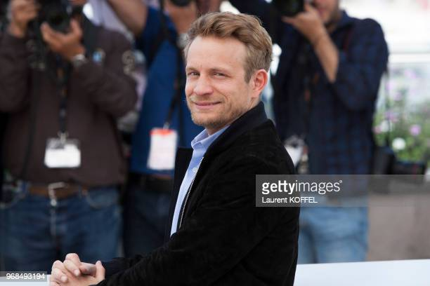 Actor Jeremie Renier attends 'The Unknown Girl ' Photocall during the 69th annual Cannes Film Festival at the Palais des Festivals on May 18, 2016 in...