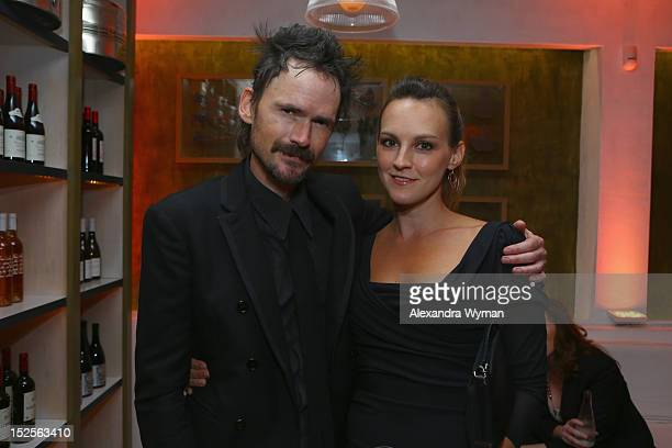 Actor Jeremy Davies and guest attend The 2012 Entertainment Weekly PreEmmy Party Presented By L'Oreal Paris at Fig Olive Melrose Place on September...