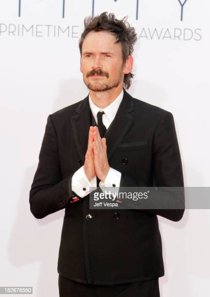 Actor Jeremy Davies arrives at the 64th Primetime Emmy Awards at Nokia Theatre LA Live on September 23 2012 in Los Angeles California