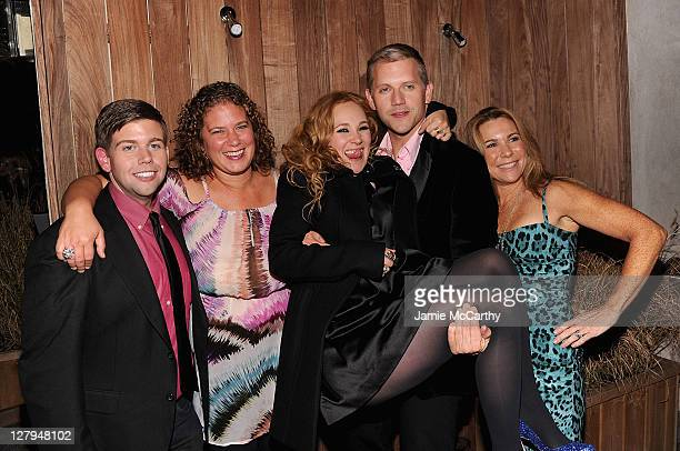 Actor Jeremy Dozier, producer Rachel Cohen, actress Juno Temple, writer/director Abe Sylvia, and producer Jana Edelbaum attend The Cinema Society &...