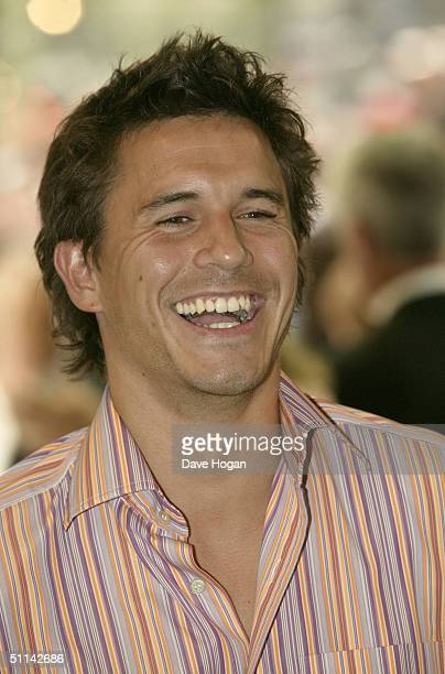 Actor Jeremy Edwards arrives at the UK Premiere of I Robot at Odeon Leicester Square on August 4 2004 in London