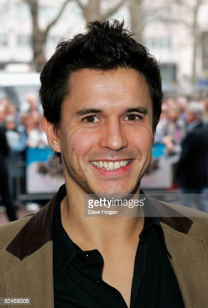 Actor Jeremy Edwards arrives at the UK Premiere of new animated film Valiant at the Odeon West End on March 20 2005 in London