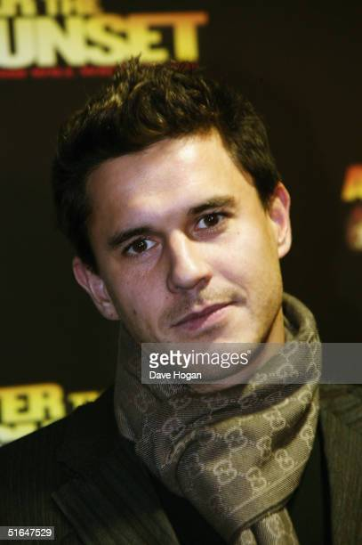 Actor Jeremy Edwards arrives at the World Film Premiere of After The Sunset at Vue Leicester Square on November 2 2004 in London Stars of the film...