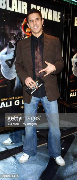 Actor Jeremy Edwards arriving at the Empire Cinema in London's Leicester Square for the premiere of Ali G InDaHouse