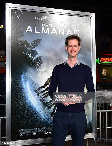 Actor Jeremy Howard poses on arrival for the Los Angeles Premiere of Project Almanac on January 27 2015 in Hollywood California The film opens...