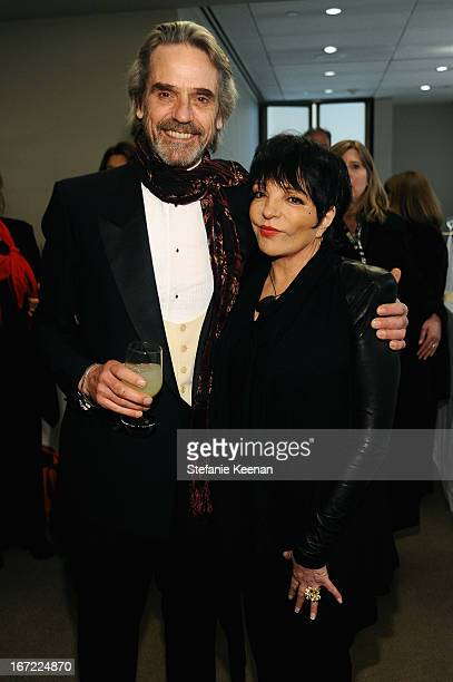 Actor Jeremy Irons and Liza Minnelli attend the Grey Goose cocktail reception of The Film Society of Lincoln Center's 40th Chaplin Award Gala at...