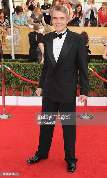 Actor Jeremy Irons arrives at the 20th Annual Screen Actors Guild Awards at The Shrine Auditorium on January 18 2014 in Los Angeles California