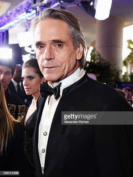 Actor Jeremy Irons arrives at the 70th Annual Golden Globe Awards held at The Beverly Hilton Hotel on January 13 2013 in Beverly Hills California