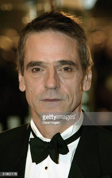 Actor Jeremy Irons arrives at the UK film premiere of Merchant Of Venice at Odeon Leicester Square on November 29 2004 in London