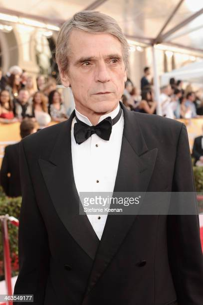 Actor Jeremy Irons attends 20th Annual Screen Actors Guild Awards at The Shrine Auditorium on January 18 2014 in Los Angeles California