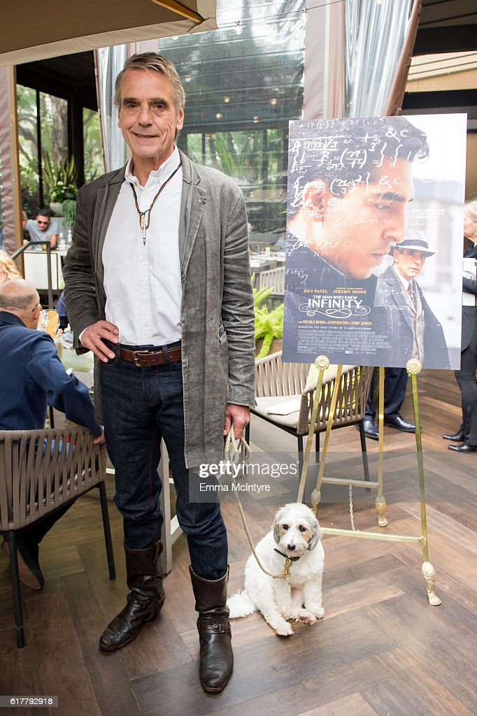 Actor Jeremy Irons attends 'HFPA Luncheon with Jeremy Irons' at Culina Restaurant on October 24, 2016 in Los Angeles, California.