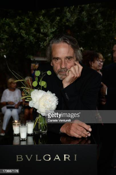 Actor Jeremy Irons attends Official Opening Bulgari's Boutique In SaintTropez on July 16 2013 in SaintTropez France