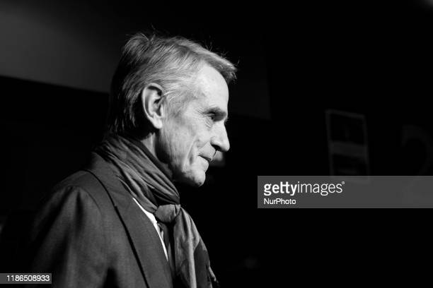 Actor Jeremy Irons attends 'Pintores y Reyes del Prado' photocall premiere at cinema VErdi on December 04 2019 in Madrid Spain