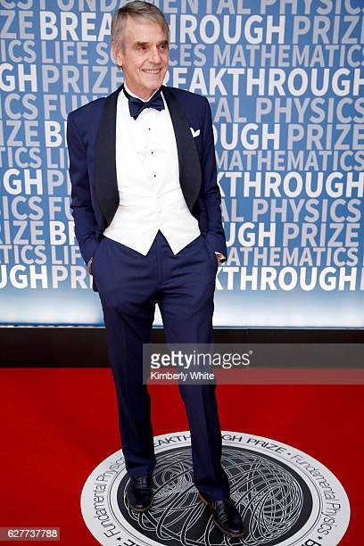 Actor Jeremy Irons attends the 2017 Breakthrough Prize at NASA Ames Research Center on December 4 2016 in Mountain View California