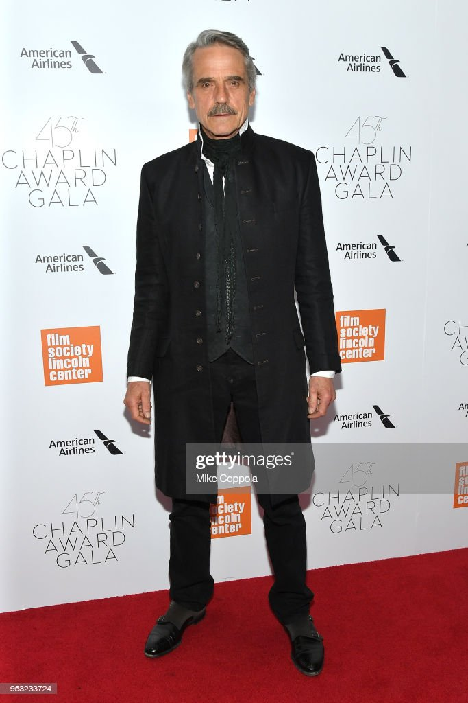 Actor Jeremy Irons attends the 45th Chaplin Award Gala at Alice Tully Hall, Lincoln Center on April 30, 2018 in New York City.