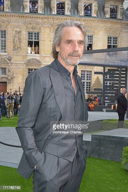 Actor Jeremy Irons attends the Berluti Menswear Spring/Summer 2014 show as part of the Paris Fashion Week on June 28 2013 in Paris France