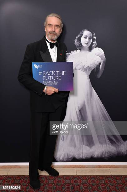 Actor Jeremy Irons attends the BFI Luminous Fundraising Gala at The Guildhall on October 3 2017 in London England