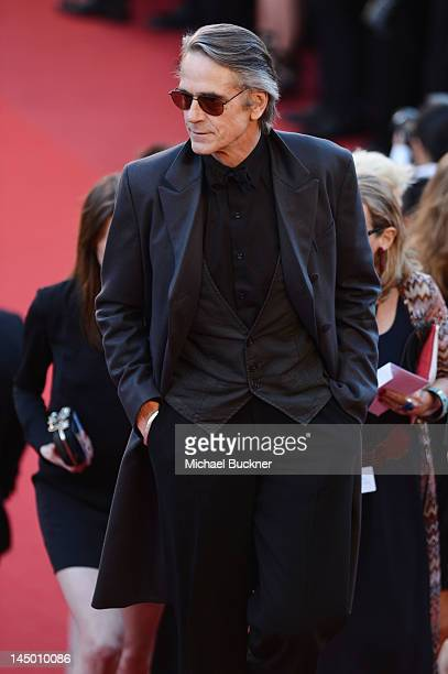 Actor Jeremy Irons attends the 'Killing Them Softly' Premiere during 65th Annual Cannes Film Festival at Palais des Festivals on May 22 2012 in...