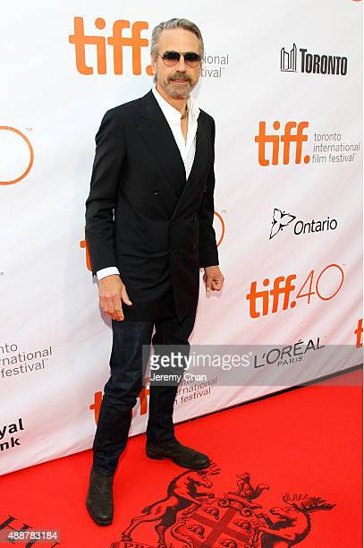 Actor Jeremy Irons attends The Man Who Knew Infinity premiere during the 2015 Toronto International Film Festival at Roy Thomson Hall on September 17...