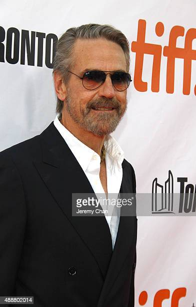 """Actor Jeremy Irons attends """"The Man Who Knew Infinity"""" premiere during the 2015 Toronto International Film Festival at Roy Thomson Hall on September..."""