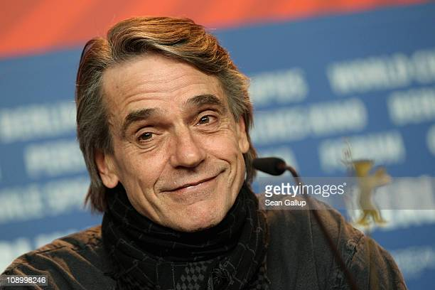 Actor Jeremy Irons attends the 'Margin Call' press conference during day two of the 61st Berlin International Film Festival at the Grand Hyatt on...