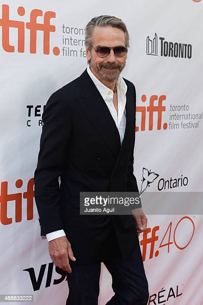 Actor Jeremy Irons attends the premiere of 'The Man Who Knew Infinity' at Roy Thomson Hall on September 17 2015 in Toronto Canada