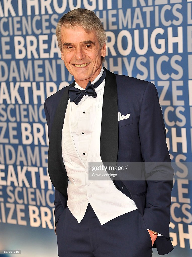 Actor Jeremy Irons attends the Red Carpet at the 5th Annual Breakthrough Prize Ceremony at NASA Ames Research Center on December 4, 2016 in Mountain View, California.