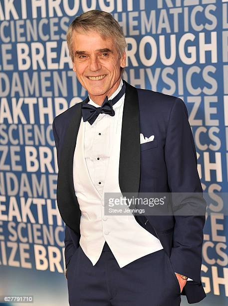 Actor Jeremy Irons attends the Red Carpet at the 5th Annual Breakthrough Prize Ceremony at NASA Ames Research Center on December 4 2016 in Mountain...