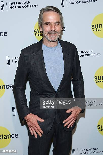 Actor Jeremy Irons attends the Sundance Institute Vanguard Leadership Award honoring Glenn Close at Stage 37 on June 4 2014 in New York City