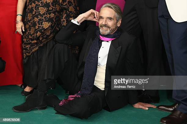 Actor Jeremy Irons attends the 'The Man Who Knew Infinity' Premiere And Opening Ceremony during the Zurich Film Festival on September 24 2015 in...