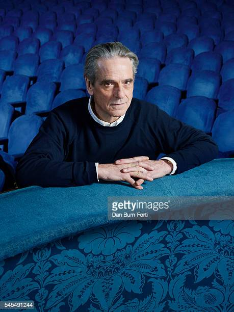 Actor Jeremy Irons is photographed for AARP Magazine on November 26 2015 in London England