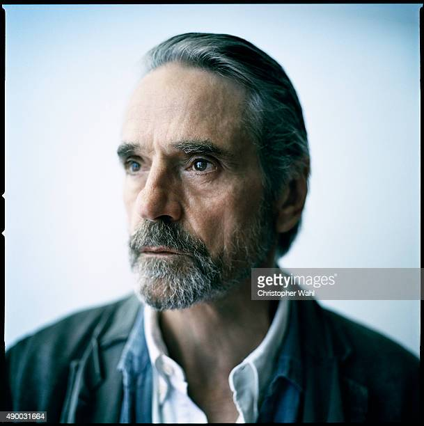 Actor Jeremy Irons is photographed for The Globe and Mail on September 15 2015 in Toronto Ontario