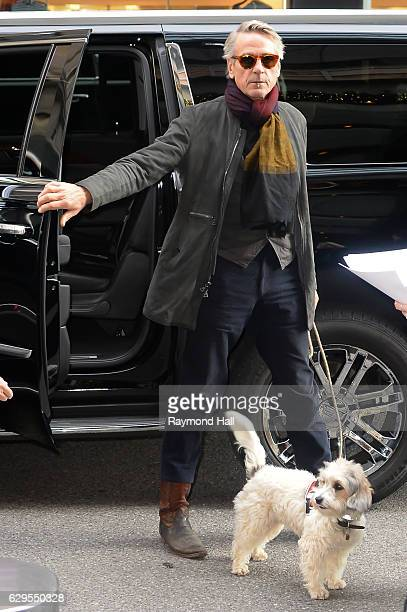 Actor Jeremy Irons is seen in Soho on December 13 2016 in New York City
