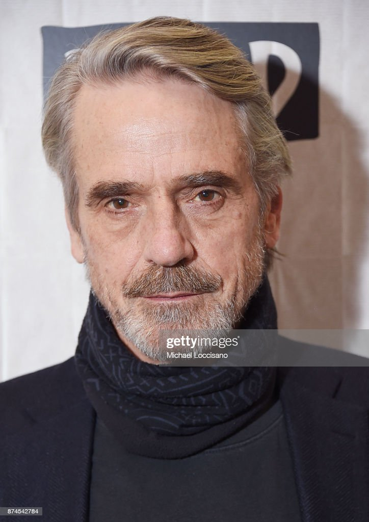 Actor Jeremy Irons visits Build Studio to discuss the movie 'Justice League' on November 14, 2017 in New York City.