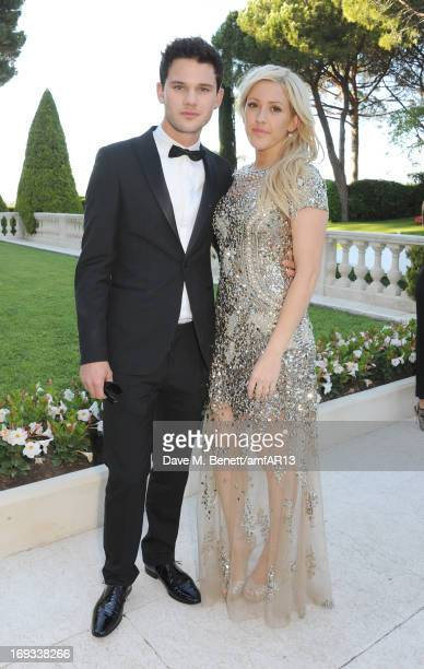 Actor Jeremy Irvine and musician Ellie Goulding attend amfAR's 20th Annual Cinema Against AIDS during The 66th Annual Cannes Film Festival at Hotel...