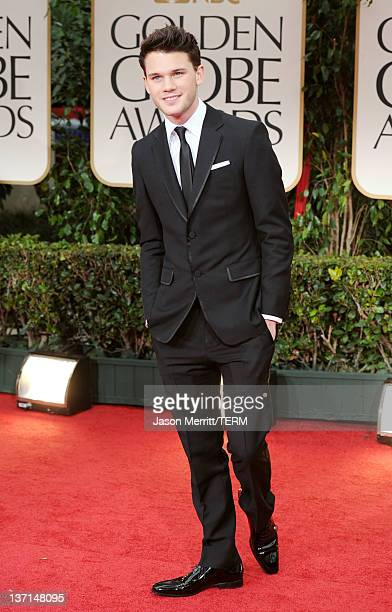 Actor Jeremy Irvine arrives at the 69th Annual Golden Globe Awards held at the Beverly Hilton Hotel on January 15 2012 in Beverly Hills California