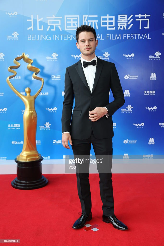 Actor Jeremy Irvine arrives at the closing ceremony red carpet during the 3rd Beijing International Film Festival at China National Convention Center on April 23, 2013 in Beijing, China.