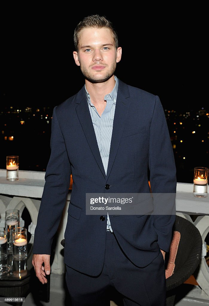 Actor Jeremy Irvine attends a cocktail event hosted by Dior Homme's Kris Van Assche at Chateau Marmont on September 24, 2015 in Los Angeles, California.