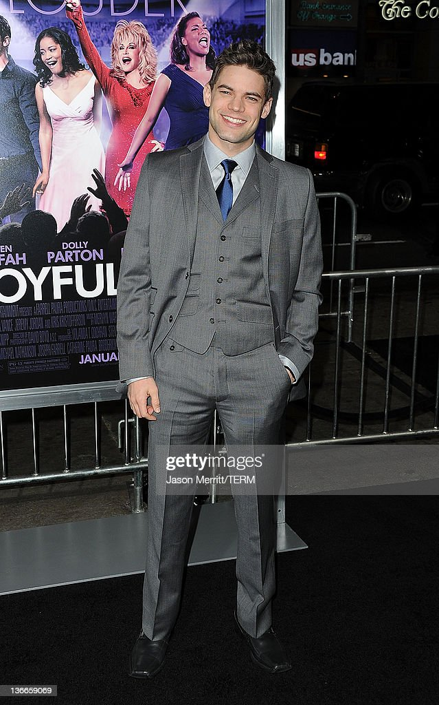 Actor Jeremy Jordan arrives at the premiere of Warner Bros. Pictures' 'Joyful Noise' held at Grauman's Chinese Theatre on January 9, 2012 in Hollywood, California.