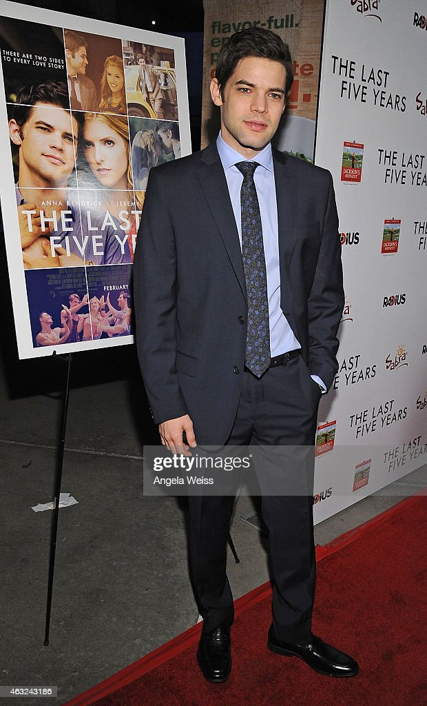 Actor Jeremy Jordan attends the premiere of RADiUS' 'The Last Five Years' at ArcLight Hollywood on February 11, 2015 in Hollywood, California.