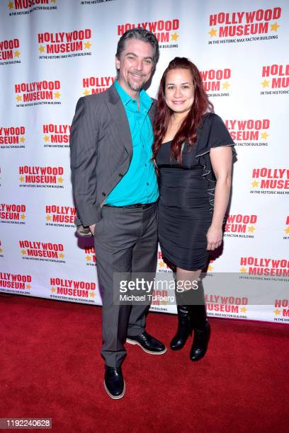Actor Jeremy Miller and Joanie Miller attend Hollywood Museum's Back To The Future Trilogy The Exhibit at The Hollywood Museum on December 05 2019 in...