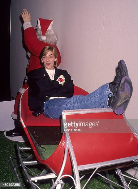 Actor Jeremy Miller attends the 60th Annual Hollywood Christmas Parade on December 1, 1991 at the KTLA Studios in Hollywood, California.