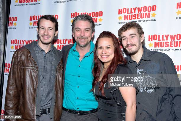 Actor Jeremy Miller Joanie Miller and family attend Hollywood Museum's Back To The Future Trilogy The Exhibit at The Hollywood Museum on December 05...